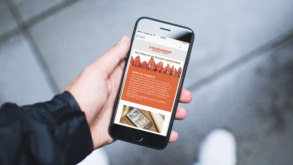 Vis&Meer - digitale nieuwsbrief smartphone