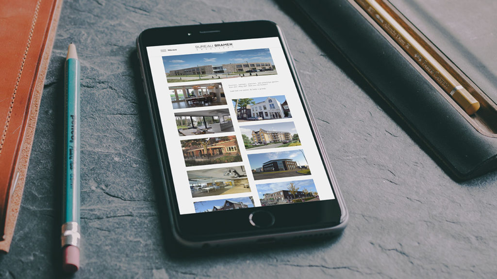 Bureau Bramer website - smartphone