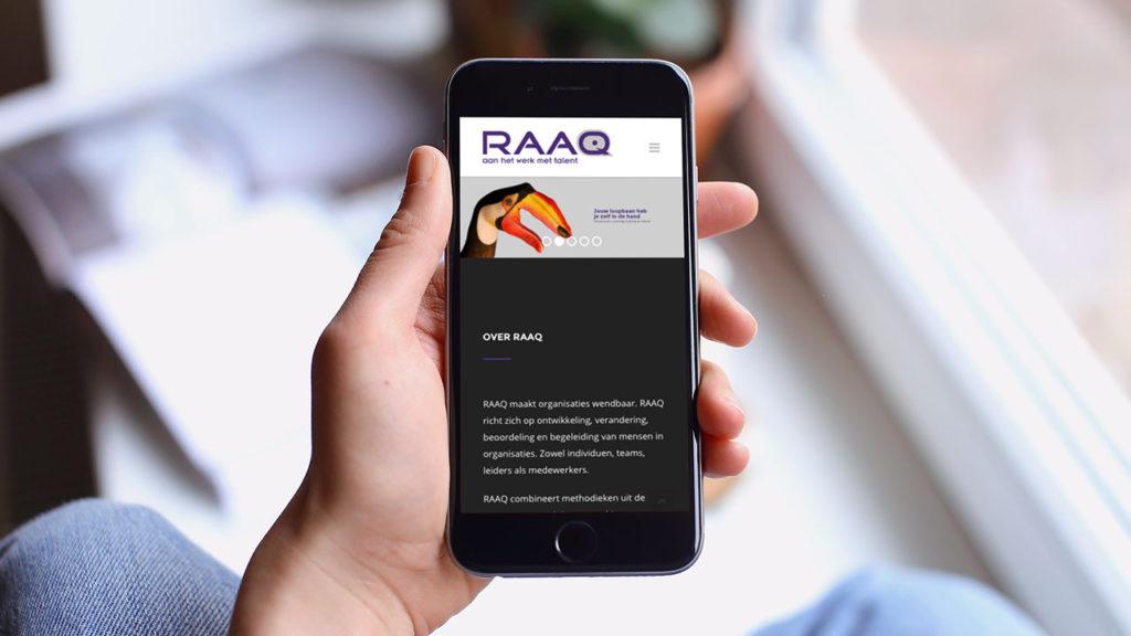RAAQ website - smartphone